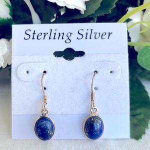Lapis Lazuli Earrings - Sterling Silver - NEW